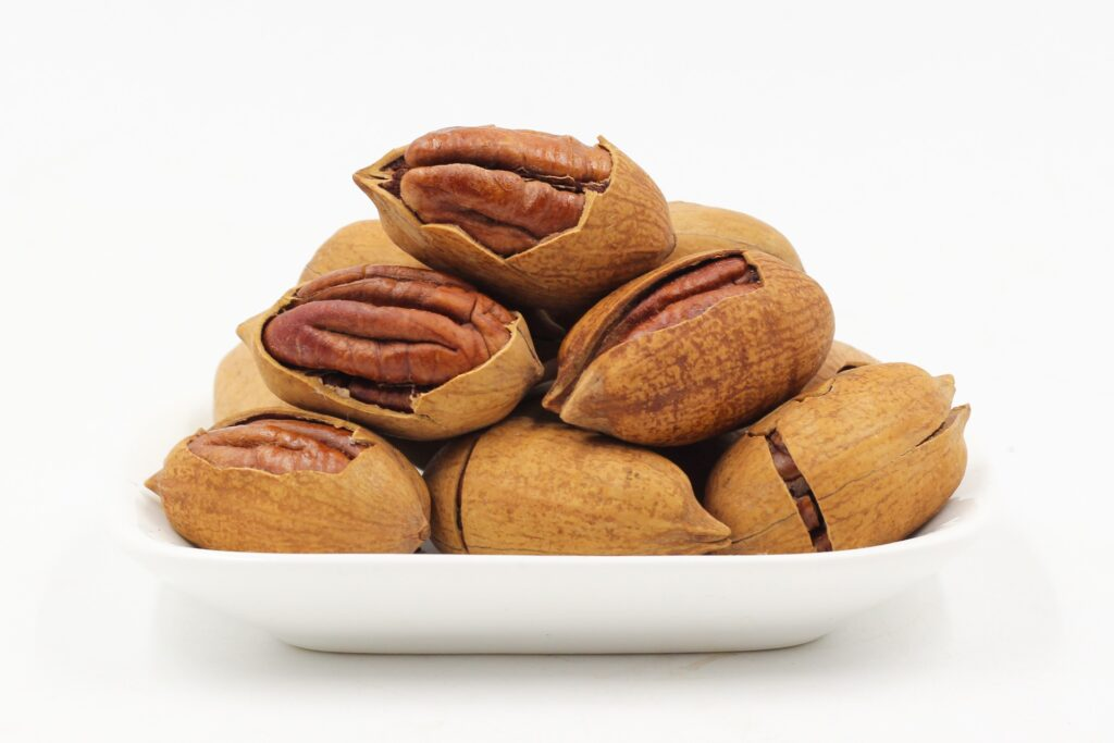 Small dish of pecans