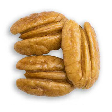 Three junior mammoth pecan halves