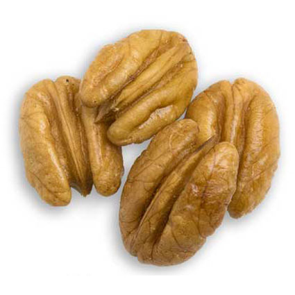 Four extra large pecan halves