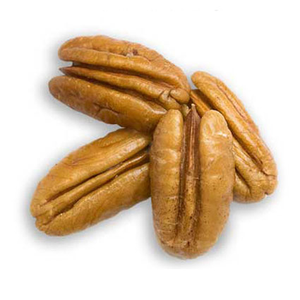 Four large pecan halves